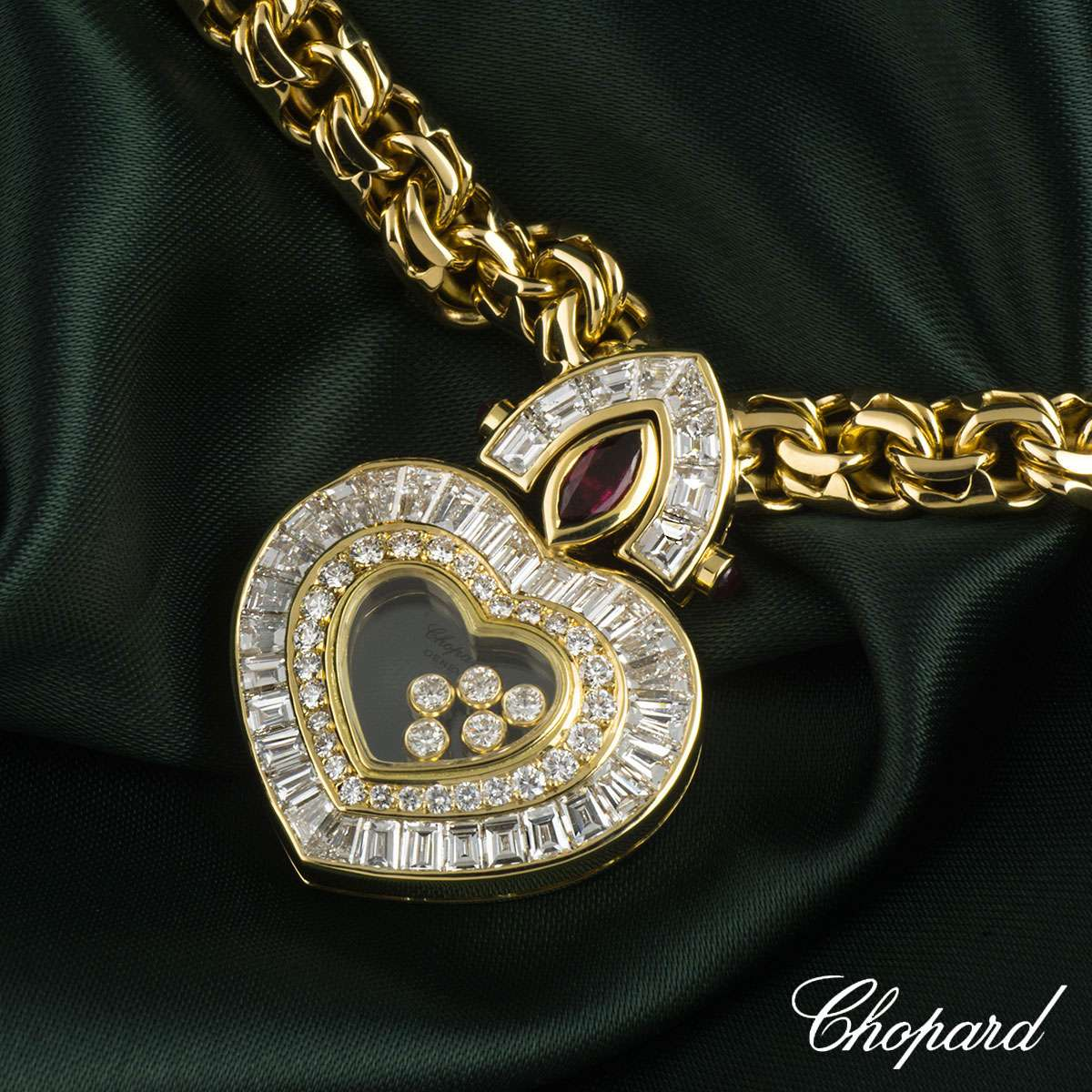 Chopard Yellow Gold Happy Diamonds Necklace 811350-0002